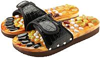 Массажные тапочки Casada Stone Steps CS-302 (S, черный крокодил) -
