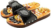 Массажные тапочки Casada Stone Steps CS-305 (M, черный крокодил) -