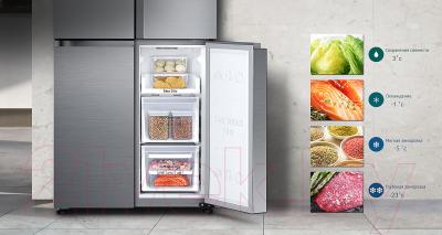Холодильник с морозильником Samsung RF50K5920S8/WT