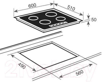 Индукционная варочная панель Teka IZ 6420 White (10210205)