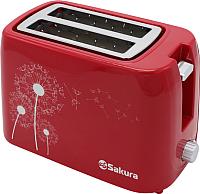 Тостер Sakura SA-7608R (красный) -