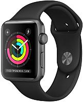 Умные часы Apple Watch Series 3 42mm / MQL12 (алюминий серый космос/черный) -
