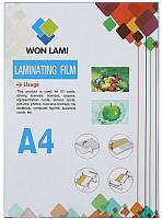 Пленка для ламинирования WF А4,125мкм ПЭТ, 100шт (глянец) -
