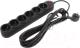 Сетевой фильтр Sven SF-06L (5м, 6 розеток, черный) -
