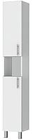 Шкаф-пенал для ванной Triton Эко 30 со сменными элементами (белый) -