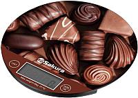 Кухонные весы Sakura SA-6076C (шоколад) -