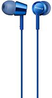 Наушники-гарнитура Sony MDR-EX155APLI (синий) -
