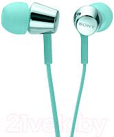 Наушники Sony MDR-EX155L (голубой) -