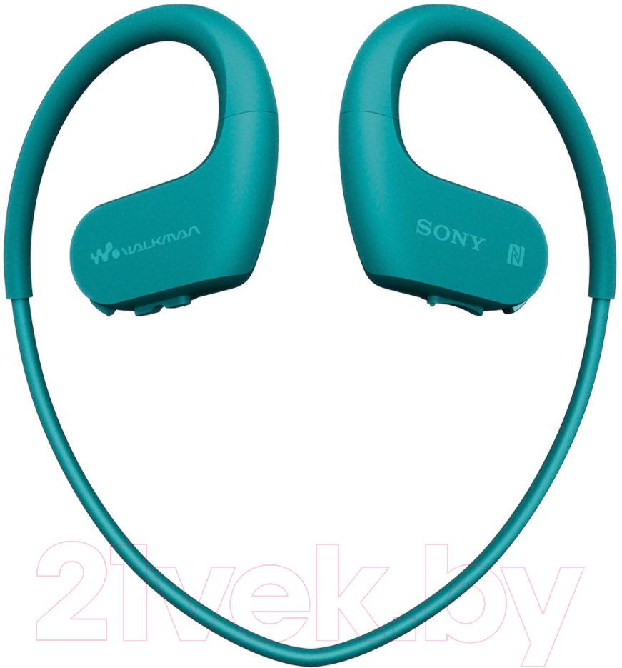 Купить Наушники-плеер Sony, NW-WS623L (синий), Малайзия