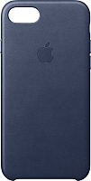 Чехол-накладка Apple Leather Case для iPhone 8/7 Midnight Blue / MQH82 -