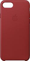 Чехол-накладка Apple Leather Case для iPhone 8/7 Red / MQHA2 -
