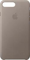 Чехол-накладка Apple Leather Case для iPhone 8+/7+ Taupe / MQHJ2 -