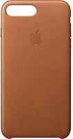 Чехол-накладка Apple Leather Case для iPhone 8+/7+ Saddle Brown / MQHK2 -