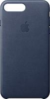Чехол-накладка Apple Leather Case для iPhone 8+/7+ Midnight Blue / MQHL2 -