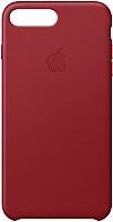 Чехол-накладка Apple Leather Case для iPhone 8+/7+ Red / MQHN2 -