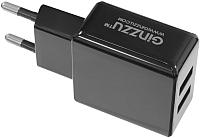 Адаптер питания сетевой Ginzzu GA-3311UB (черный) -