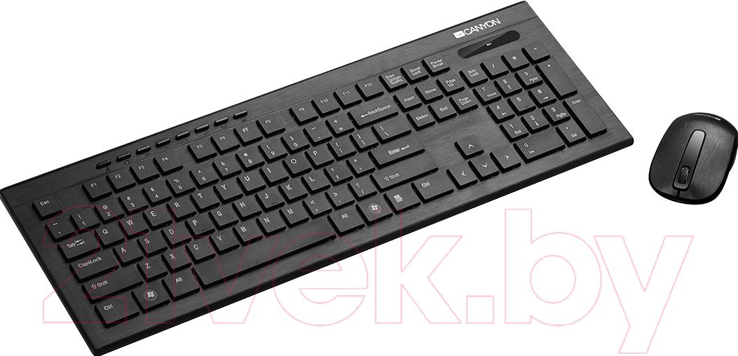 Купить Клавиатура+мышь Canyon, CNS-HSETW4-RU (черный), Китай