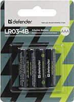 Комплект батареек Defender LR03-4B / 56002 (4шт) -