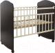 Детская кроватка Агат Золушка-8 колесо-качалка (венге/слоновая кость) -