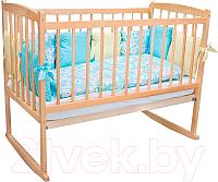 Детская кроватка Массив Беби 1 разборная (светлый) -