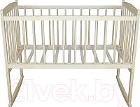 Детская кроватка Массив Беби 1 разборная (слоновая кость) -