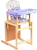 Стульчик для кормления GLOBEX Мишутка New (фиолетовый) -