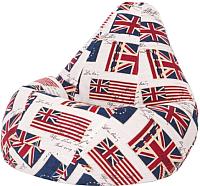 Бескаркасное кресло Flagman Груша Макси Г2.4-04 (Британский флаг) -