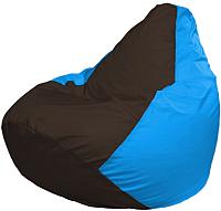 Бескаркасное кресло Flagman Груша Мини Г0.1-319 (коричневый/голубой) -