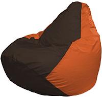 Бескаркасное кресло Flagman Груша Мини Г0.1-324 (коричневый/оранжевый) -