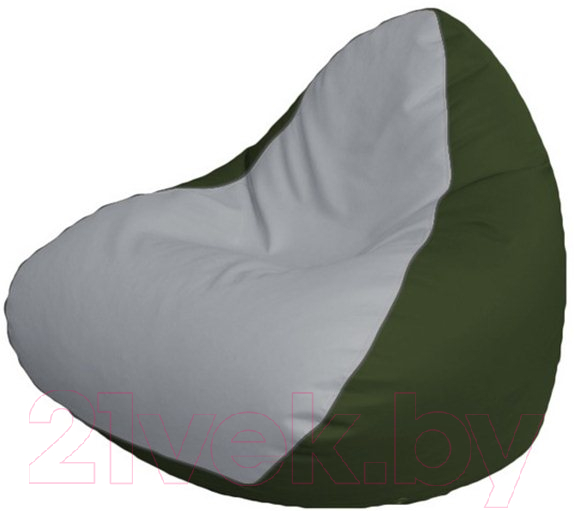 Купить Бескаркасное кресло Flagman, Relax P2.3-61 (белый/зеленый), Беларусь, экокожа
