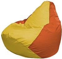 Бескаркасное кресло Flagman Груша Макси Г2.1-258 (желтый/оранжевый) -