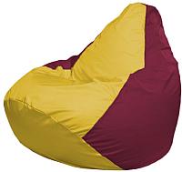 Бескаркасное кресло Flagman Груша Макси Г2.1-265 (желтый/бордовый) -