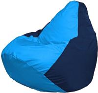 Бескаркасное кресло Flagman Груша Макси Г2.1-272 (голубой/темно-синий) -