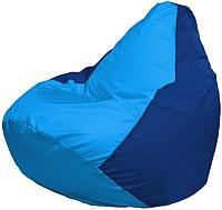 Бескаркасное кресло Flagman Груша Макси Г2.1-273 (голубой/синий) -