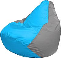 Бескаркасное кресло Flagman Груша Макси Г2.1-274 (голубой/серый) -