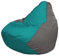 Бескаркасное кресло Flagman Груша Макси Г2.1-292 (бирюзовый/серый) -
