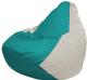 Бескаркасное кресло Flagman Груша Макси Г2.1-315 (бирюзовый/белый) -