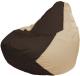 Бескаркасное кресло Flagman Груша Макси Г2.1-326 (коричневый/светло-бежевый) -