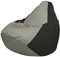 Бескаркасное кресло Flagman Груша Макси Г2.1-354 (серый/черный) -