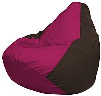 Бескаркасное кресло Flagman Груша Макси Г2.1-372 (фуксия/коричневый) -