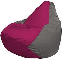 Бескаркасное кресло Flagman Груша Макси Г2.1-374 (фуксия/серый) -