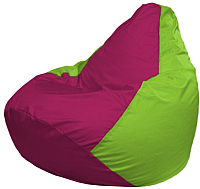 Бескаркасное кресло Flagman Груша Макси Г2.1-390 (фуксия/салатовый) -