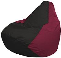 Бескаркасное кресло Flagman Груша Макси Г2.1-394 (черный/бордовый) -