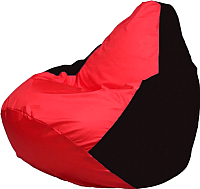 Бескаркасное кресло Flagman Груша Макси Г2.1-411 (черный/красный) -