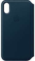 Чехол-книжка Apple Leather Folio for iPhone X Cosmos Blue / MQRW2 -