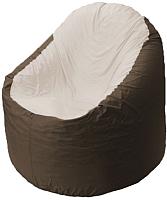 Бескаркасное кресло Flagman Bravo B1.1-27 (белый/коричневый) -