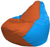 Бескаркасное кресло Flagman Груша Макси Г2.1-220 (оранжевый/голубой) -