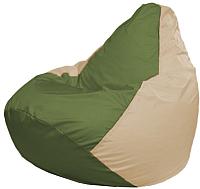 Бескаркасное кресло Flagman Груша Макси Г2.1-225 (оливковый/светло-бежевый) -
