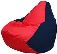 Бескаркасное кресло Flagman Груша Макси Г2.1-234 (красный/темно-синий) -
