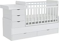 Детская кровать-трансформер Фея 1150 (белый) -